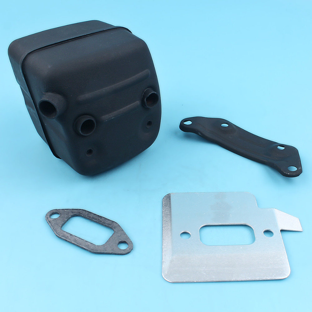 Muffler Exhaust Bracket Gasket Cooling Plate Kit For Husqvarna 365 362 371 372 372XP 385 390 Chainsaw Parts