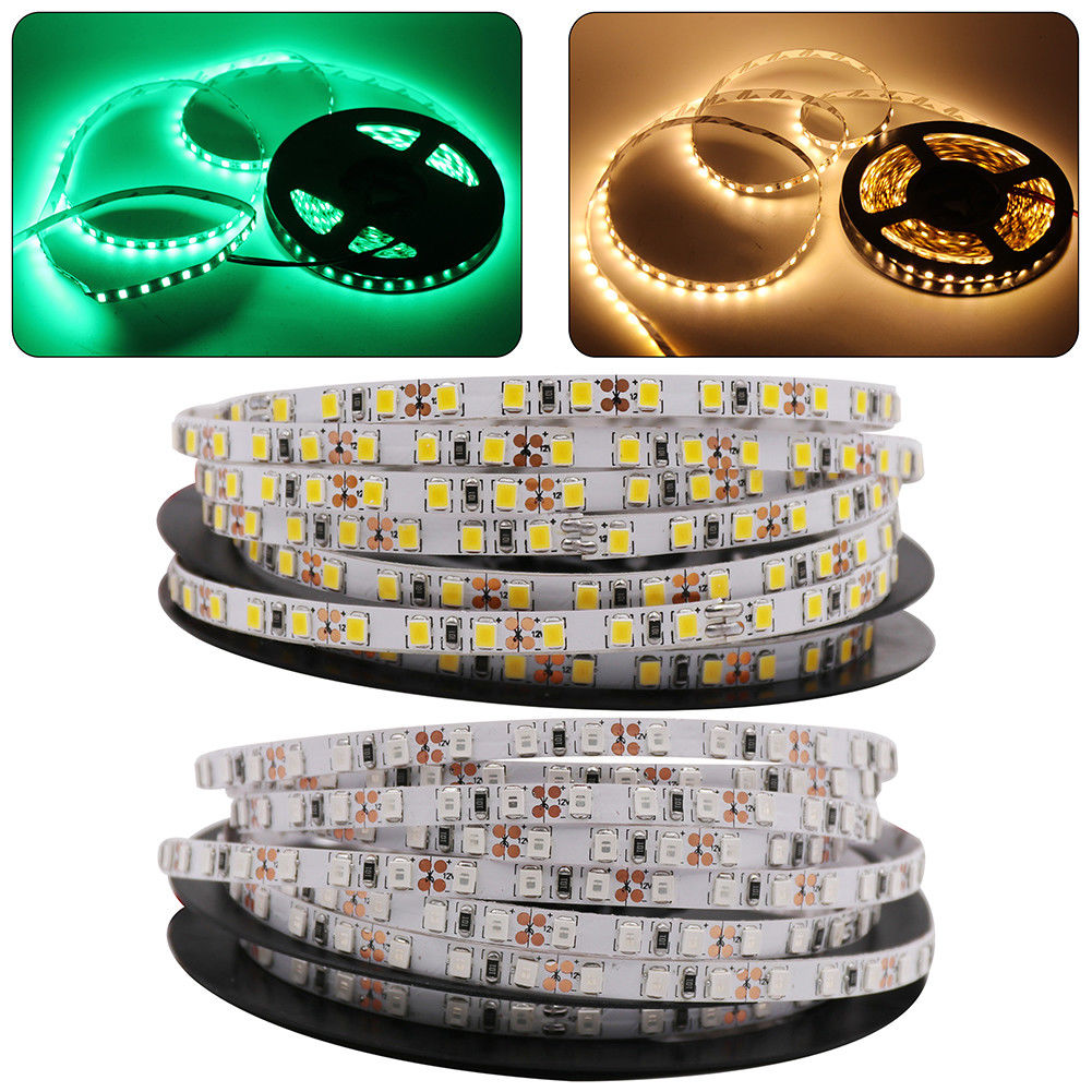 5mm PCB LED strip 2835 SMD 120leds/m flexible tape rope light Warm white blue green red 5M/lot DC12V