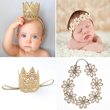 New Arrival Newborn Girls Popular HairBand Fashion Cute Crown Flower Knitting Kids Child Headband Hair Accessories