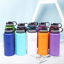 New 2019 Water Bottle Stainless Steel Insulated Portable Firm Durable Wide Mouth GYM Outdoors Sports 18oz/ 32oz/40oz With Lid