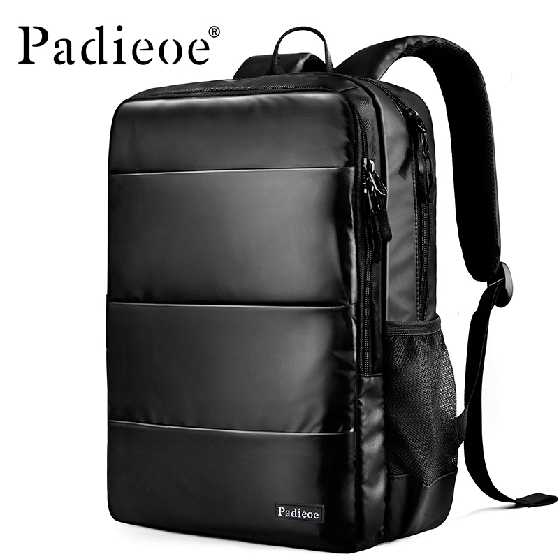 Padieoe High Quality Nylon Backpack Men Student Fashion School Bags Casual 15  Laptop Notebook Rucksack Women Leisure Mochila 14 15 15 6 inch oxford computer laptop notebook backpack bags case school backpack for men women student