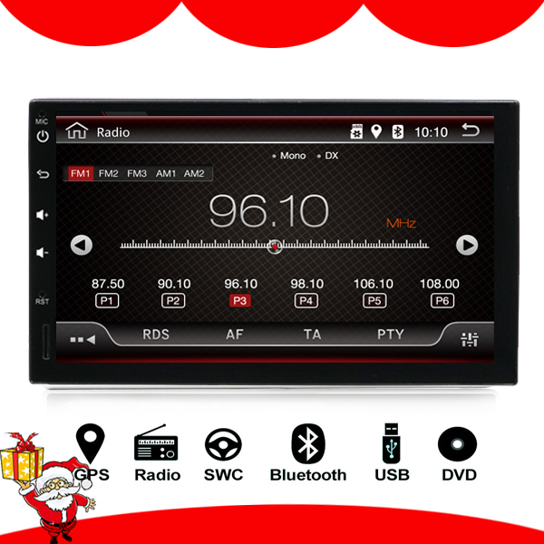 2 Din 7'' Quad core Universal Android 8.1 Car Radio Stereo GPS Navigation WiFi 1024*600 Touch Screen 2din Car PC