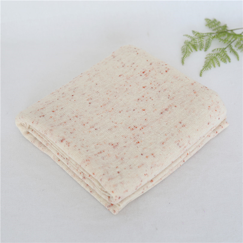 Pastel Beige Newborn Fabric Backdrop Speckled Blanket Baby Posing Background Swaddle Knit Blanket Beab Bag Covering Studio Props