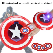 Halloween cosplay Captain America Shield Wrist Darts Launcher Avengers Sounds Toys Props Children Gifts the avengers captain 32cm captain america assemble shield cosplay toy red