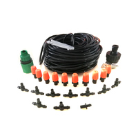 Automatic Micro Drip Irrigation System 20 Meters 15 Nozzle Single Exit Micro Spray Nozzle Atomization Package