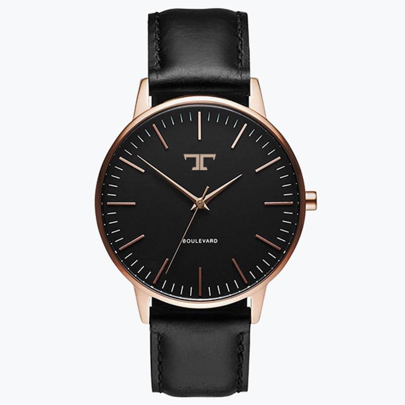 Quartz Watch Men Women Famous Brand Gold Leather Band Wrist Watches Relojes 2017 Montre Homme Erkek