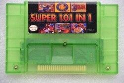 Super 101 en 1 para NES-multi 16 poco 46 pin videojuego cartucho SNES para EE. UU. Versión juego jugador (24 juegos ahorro de batería)