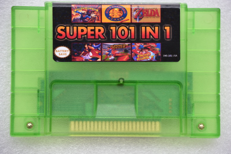 Super 101 in 1 for NES-multi 16 bit 46 pin video game cartridge SNES for USA version game player (24games Can Battery Save)Super 101 in 1 for NES-multi 16 bit 46 pin video game cartridge SNES for USA version game player (24games Can Battery Save)