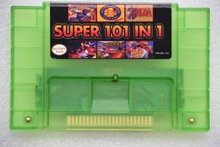 Super 101 in 1 for NES-multi 16 bit 46 pin video game cartridge SNES for USA version game player (24games Can Battery Save)