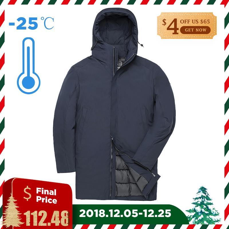 FORZA TIGRE 2018 di Inverno Del Cappotto Lungo Caldo Parka Con Cappuccio Giacca Imbottita Da Uomo Casual Ispessimento Cappotto Grande Tasca Caldo Polsini cappotto