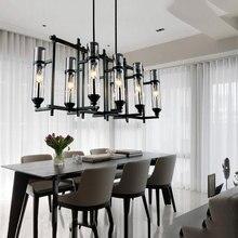 110 V 220 V American Industrial Kunst Vintage glas kerze kronleuchter lampe Nordic lustre moderne esszimmer küche restaurant licht