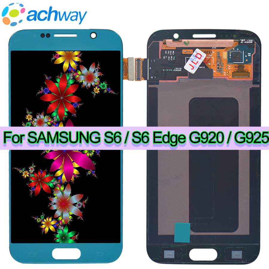 SUPER AMOLED 5.1 Display For SAMSUNG S6 G920 G920F Black LCD For 5.1 GALAXY S6 Edge G925 G925F Touch Screen Digitizer AssemblySUPER AMOLED 5.1 Display For SAMSUNG S6 G920 G920F Black LCD For 5.1 GALAXY S6 Edge G925 G925F Touch Screen Digitizer Assembly
