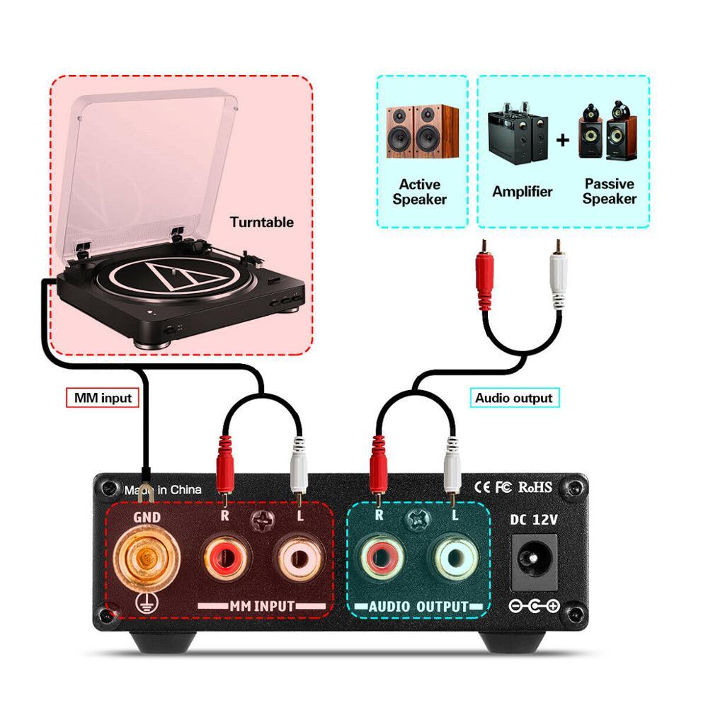 Nobsound Mini T3 MM préampli Phono lecteur de disque préamplificateur HiFi platine amplificateur - 5