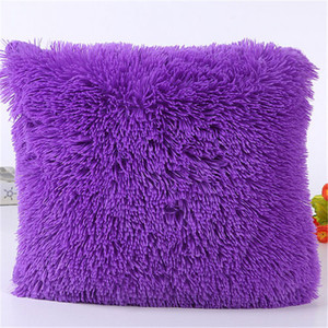 Image 4 - Sea Lion Cashmere Pillowcase Short Plush Pillow Cover Popular Square Plush Furry Pillowcase Cover Home Bed Room Decoration