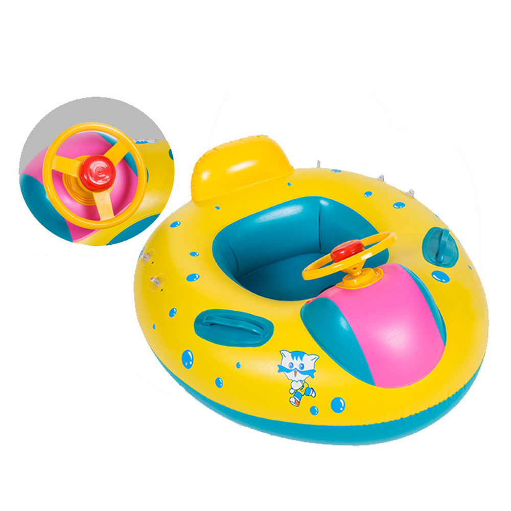 New child Inflatable yacht Swimming Circle Air Mattress Baby Float Seat Boat Tube Ring Rubber Swimming Pool Toys