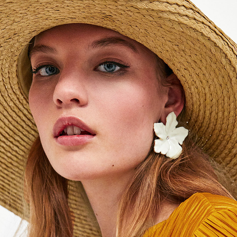 JURAN Charm Flower 11 Colors Maxi Statement Earrings Bohemian Holiday Jewelry New Candy Color Cute Stud Earrings For Women ...