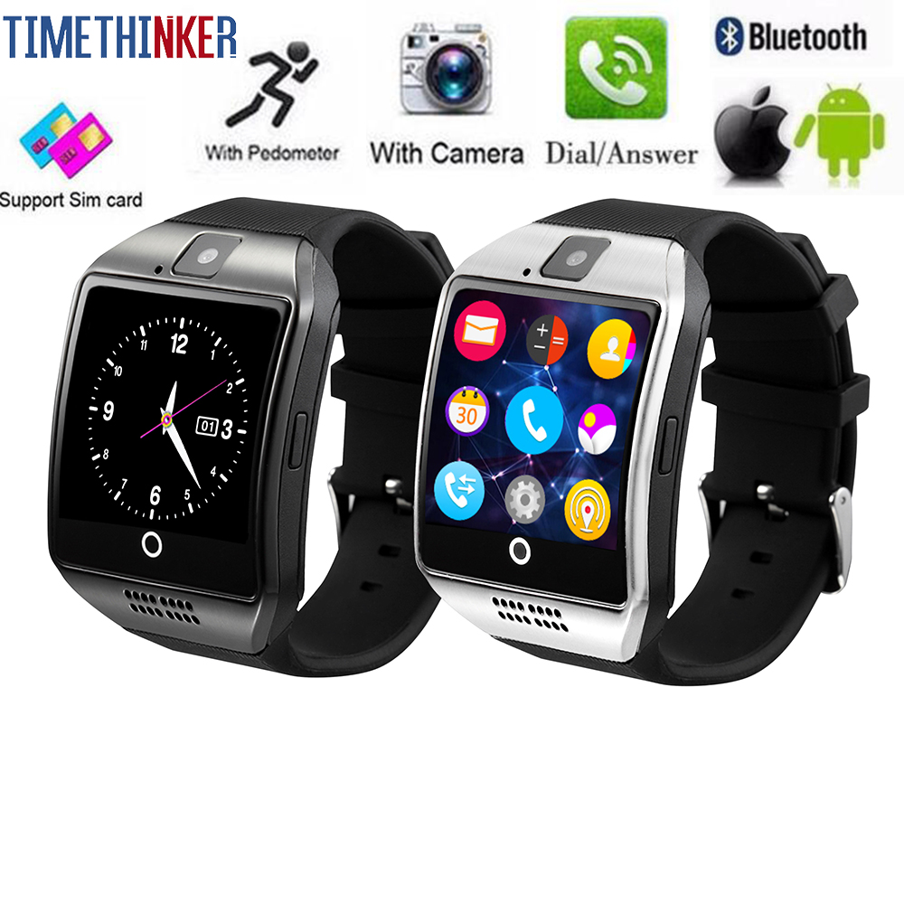 Timethinker Bluetooth Smart Watch Men Q18 With Touch <font><b>Screen</b></font> <font><b>Big</b></font> Battery Support TF Sim Card Camera for Android Phone <font><b>Smartwatch</b></font> image