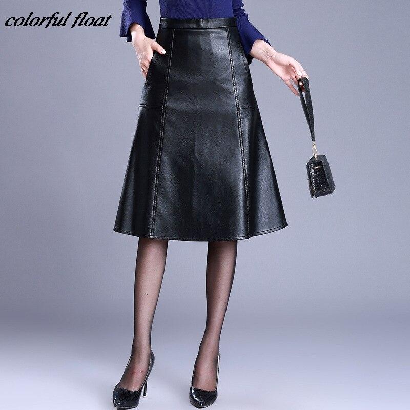 Faldas de pu falda de cuero Paquete de cadera 2017 modelos de invierno una palabra Puff respaldo Falda corta señoras modelos de explosión de gran tamaño
