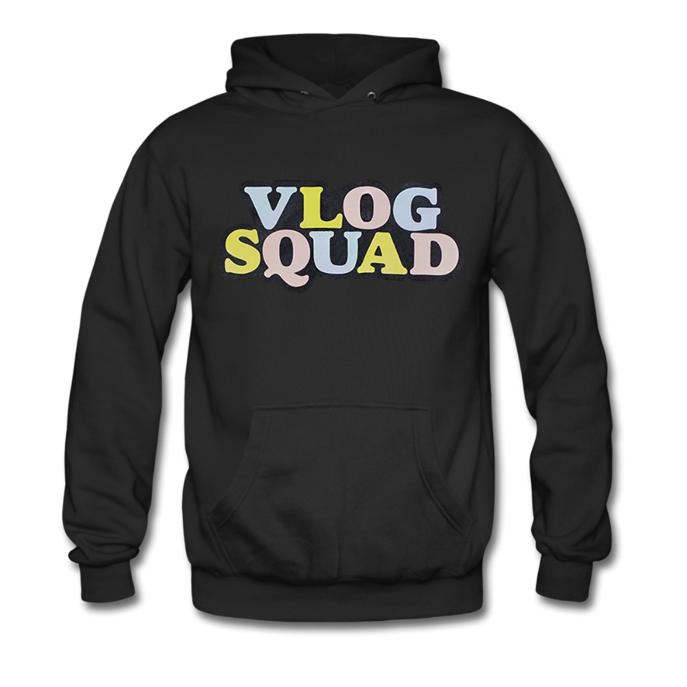 Youth VLOG SQUAD Hoodie Sweatshirt Suitable for 10 18yr Old