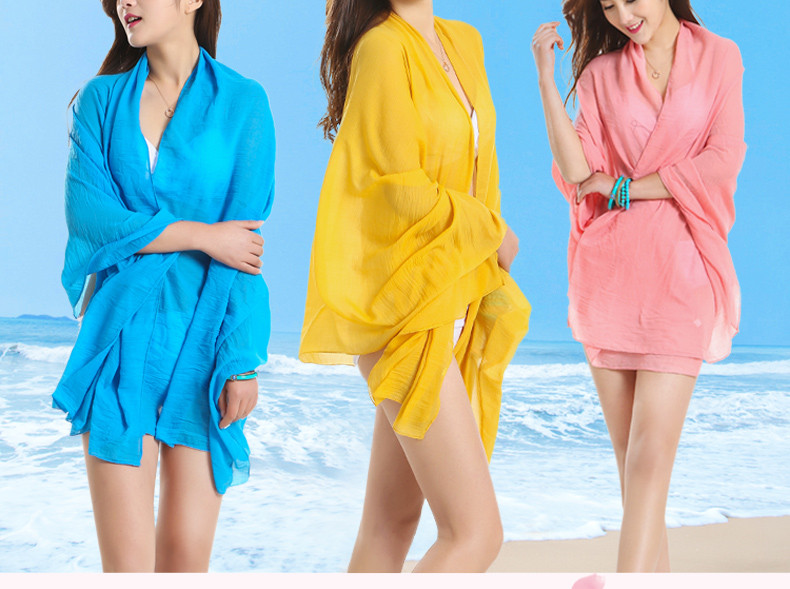 TDFunlive Free Shipping Sexy beach cover up women's sarong summer bikini cover-ups wrap pareo beach dress skirts towel 60*180cm 1