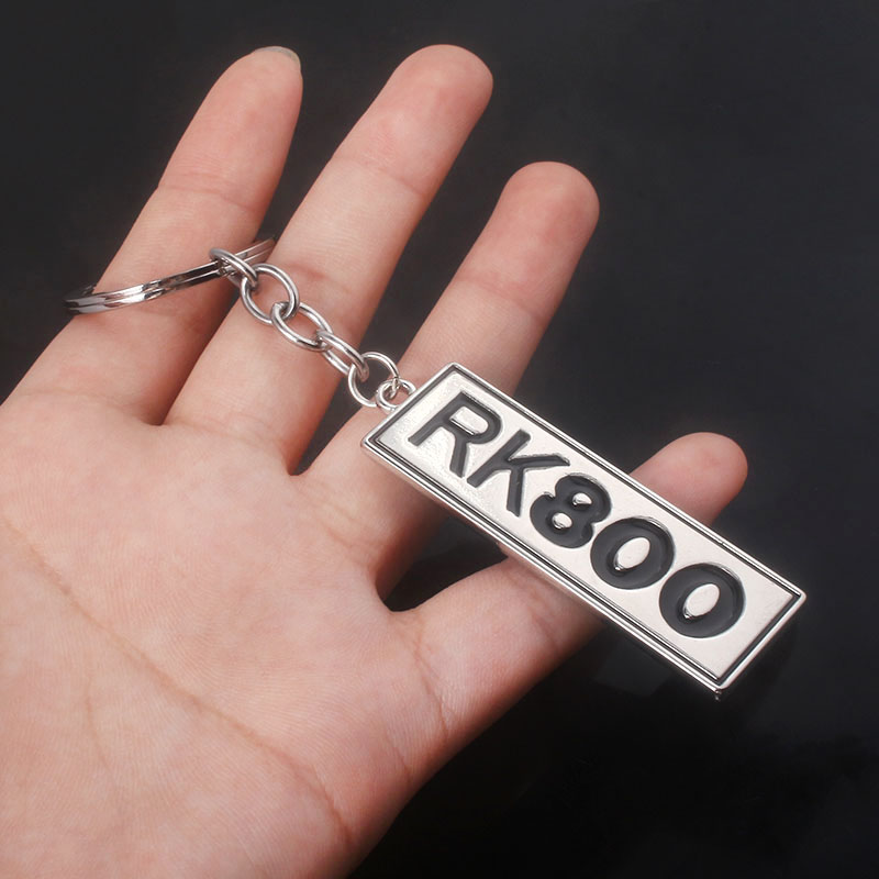 Detroit Become Human Keychains RK800 Letter label Metal Keyring For Keys Men Car Women Bag Accessories Gift in Key Chains from Jewelry Accessories