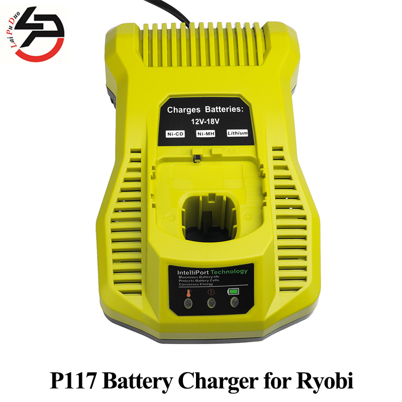 P117 Replacement Battery Charger for Ryobi 12V-18V NI-CD NI-MH Li-ion Battery Electric Screwdriver Accessory Batteria Adapter внешний аккумулятор hiper rp10000 10000 мач черный