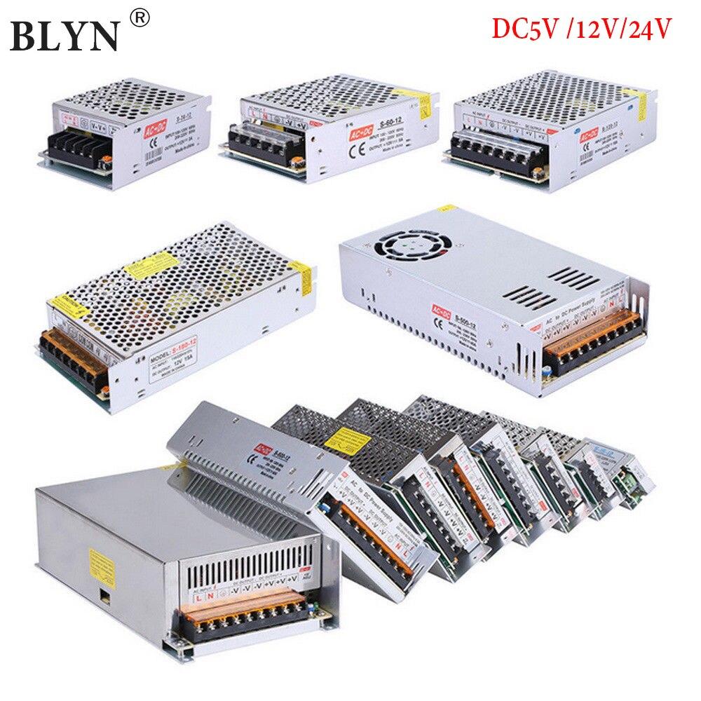 AC110 ~ 220V כדי DC 5V 12V 24V אספקת חשמל LED להמיר מיתוג מתאם 1A 2A 3A 5A 10A 15A 20A 30A 50A מקור כוח שנאי