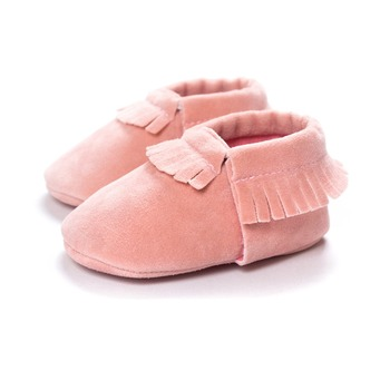 2019 PU Suede Leather Newborn Baby Moccasins Shoes Soft Soled Non-slip Crib First Walker 5