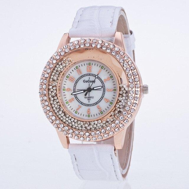 2018 New Fashion Luxury Leather Case Case Ladies Watches Quartz Watch Clock Gift