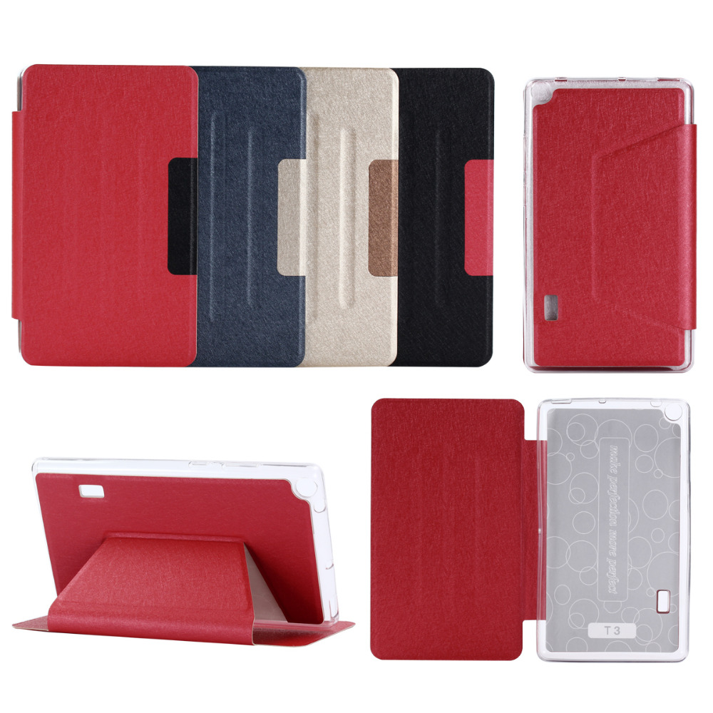 Ultra Mince Flip Book Cas Pour Huawei MediaPad T3 7.0 BG2-W09 TPU couverture PU Stand Funda Tablet Pour Honor Lecture Pad 2 7.0 + Film + stylo