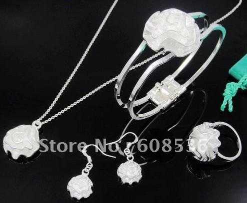 תכשיטי אופנה, Setsr תכשיטי Hot 925 כסף שרשרת & צמיד, מותג חדש S25