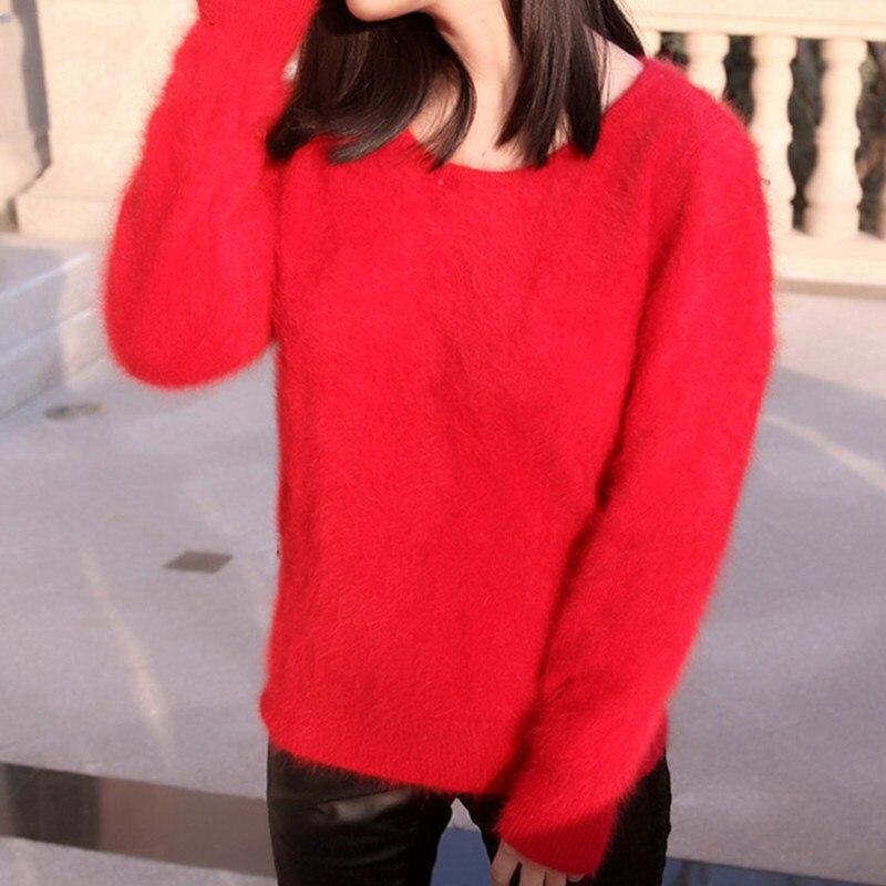 LHZSYY Neue Herbst und Winter Frauen Nerz Pullover Schlank bodenbildung  Loses hemd Mode Nerz Stricken Pullover Reine Warm Weiblich in LHZSYY Neue  Herbst und ... 029d27780e