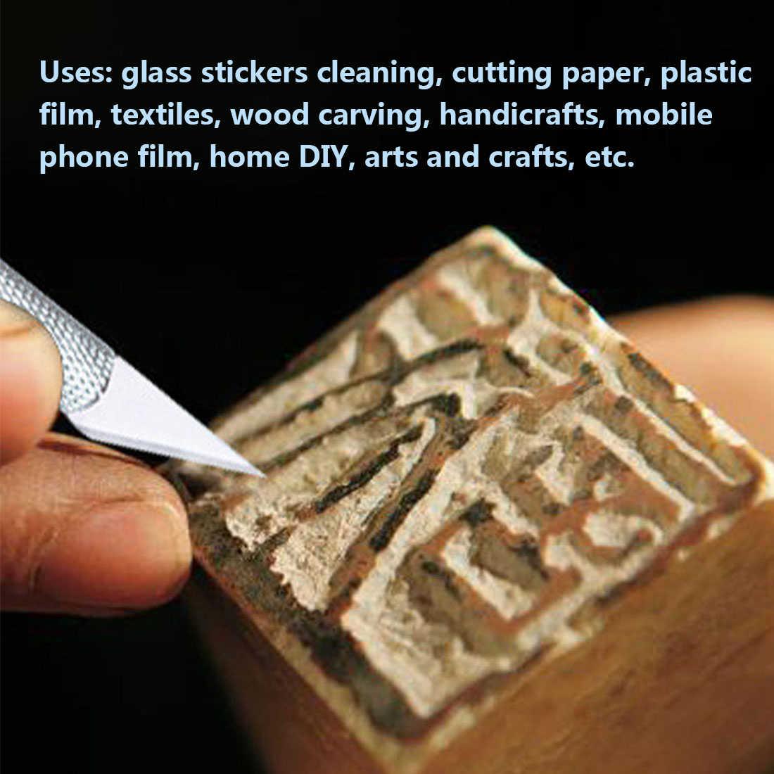 Металлическая ручка скальпель Craft ножи резак гравировка ножи для хобби с 6 шт. лезвия ручные инструменты для мобильного телефона Ноутбук PCB ремонт
