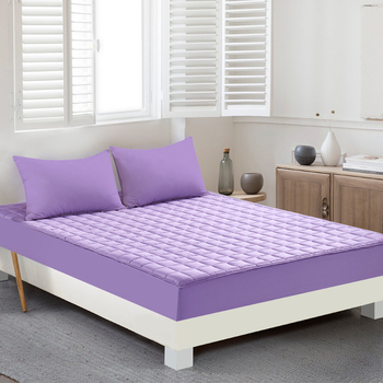 Fitted Bedheet Solid Purple Red Color Bed Sheet Elastic Waterproof Air-Permeable Mattress Protector Cover Non-slip Sheet