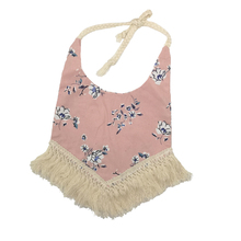 10pcs/lot Pink Floral with Tassel Matching Baby Kidocheese