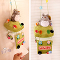 Hot sale 1pc creative totoro plush doll cute cartoon cloth paper hanging towel holder rack stuffed toy free shipping