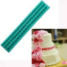 3d corda de silicone pérola corrente bolo borda moldes cupcake fondant decoração do bolo de natal ferramentas doces chocolate gumpaste moldes