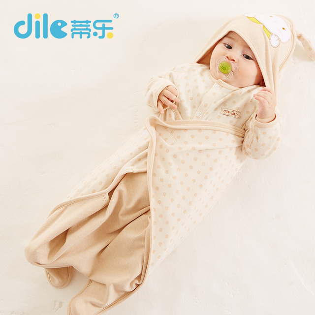 Dile Baby Swaddle Wrap Baby Swaddling Blankets Newborn receiving blankets infant Towel Soft Short Plush Swaddling Sleeping Bag