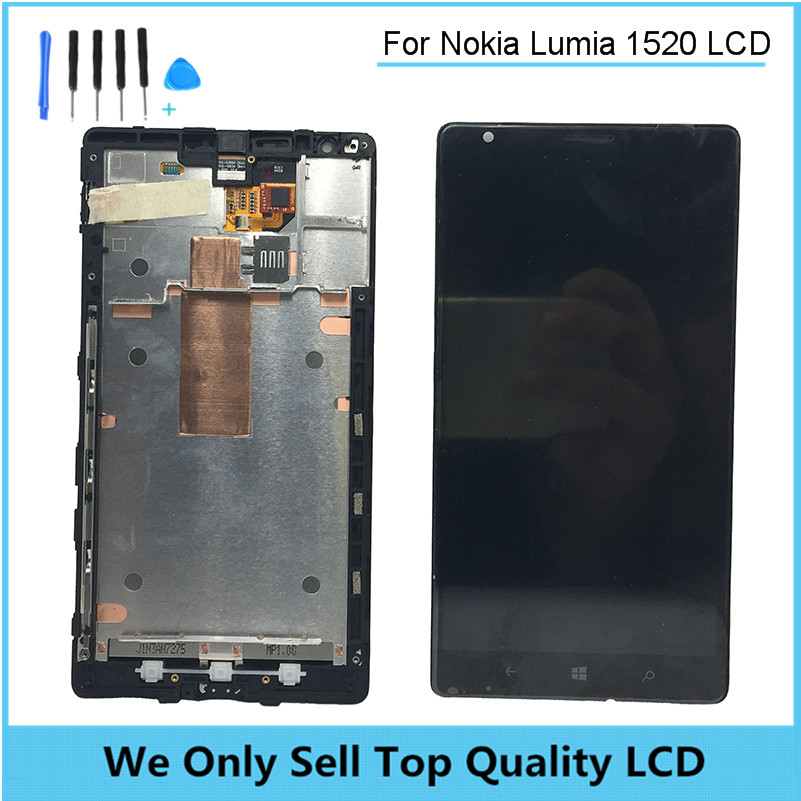цена  Replacement LCD For Nokia Lumia 1520 LCD Display with Touch Screen Digitizer Assembly With Frame Free Shipping + Tools  онлайн в 2017 году