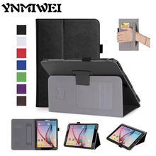 "Ynmiwei Tab S3 T820 T825 Flip PU Leather Case Slim 9.7"" Tablet Cover For Samsung Tab S3 9.7 T820 Protective Stand Card Slots"