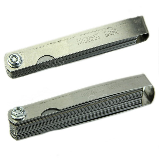 New Feeler Gauge Tune Up Thickness Set 32 Blade IMP/METRIC With Brass