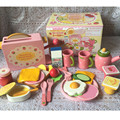 [PCMOS] Breakfast Strawberry Bread Toaster Coffee Tea Cup Plate Wood Pretend Kitchen Toys Set Girl Kids Gift Collection 16102002