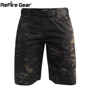 Image 2 - Refire engrenagem camo exército tático dos homens calças curtas combate militar multi bolso carga shorts soldado verão à prova dwaterproof água trabalho shorts