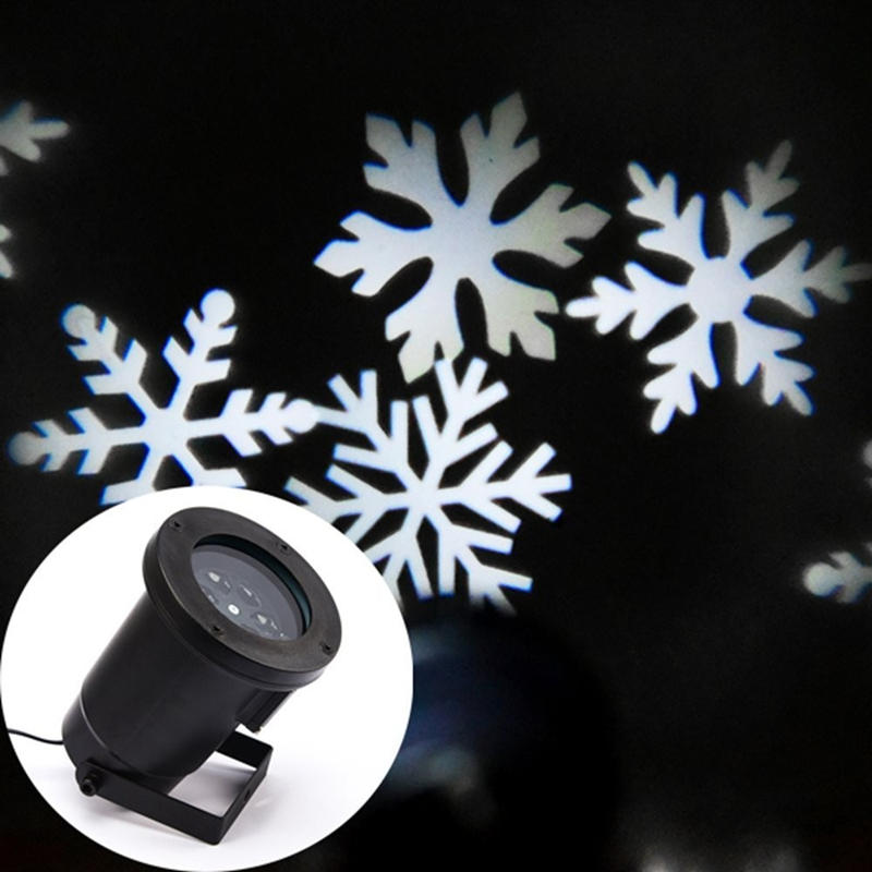 Mini Outdoor LED Moving White Snowflake Spotlight Lawn Lamp Xmas Holiday Yard Garden Landscape Decoration Projector Light GO-02 12 type rgb led snowflake projector light garden landscape light lawn lamp christmas light outdoor holiday decoration spotlight