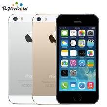 Original Apple iPhone 5s Unlocked 16GB / 32GB ROM 8MP Camera 1136×640 pixel WIFI GPS Bluetooth Cell phone multi language