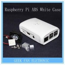 5pcs Raspberry Pi 2 & 3 ABS White Case Cover Raspberry Pi Model  B Plus Shell Box with Fan&Heatsink for Raspberry pi B302W