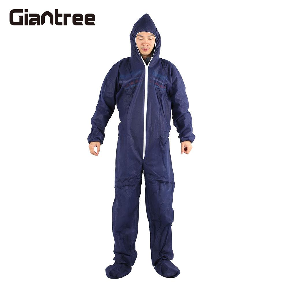 Work Clothes Disposable Clean Lightweight Exposure Suit Dark Blue Cover Protective Clothing Factory Non-Woven 3m4510 disposable anti dust and dustproof overalls non woven fabrics lightweight chemical protective suits