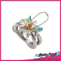 Original Bandai Sailor Moon 20th Anniversary Die Cast Ring Charm Gashapon Sailor Star Yell
