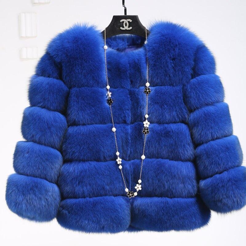 Veste rose Chaud Fourrure bourgogne L'ensemble En Importé bleu Rouge pu Hiver Du D'hiver 2019 Ciel Cuir Imitation De Renard Manteau Artificielle Courte noir qSnAW8wxH