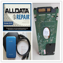 2017 Top-Rated newest alldata software 10.53 mitchell on demand 2015 vivid workshop 3 softwares in 1tb hdd for all cars(China (Mainland))